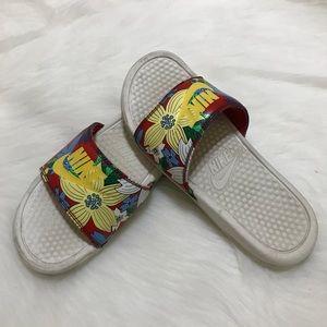 Nike Floral Slide Sandals